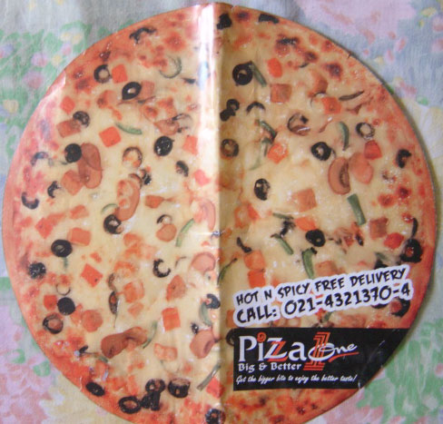 Pizza One menu