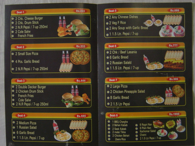 Ginoginelles deals menu