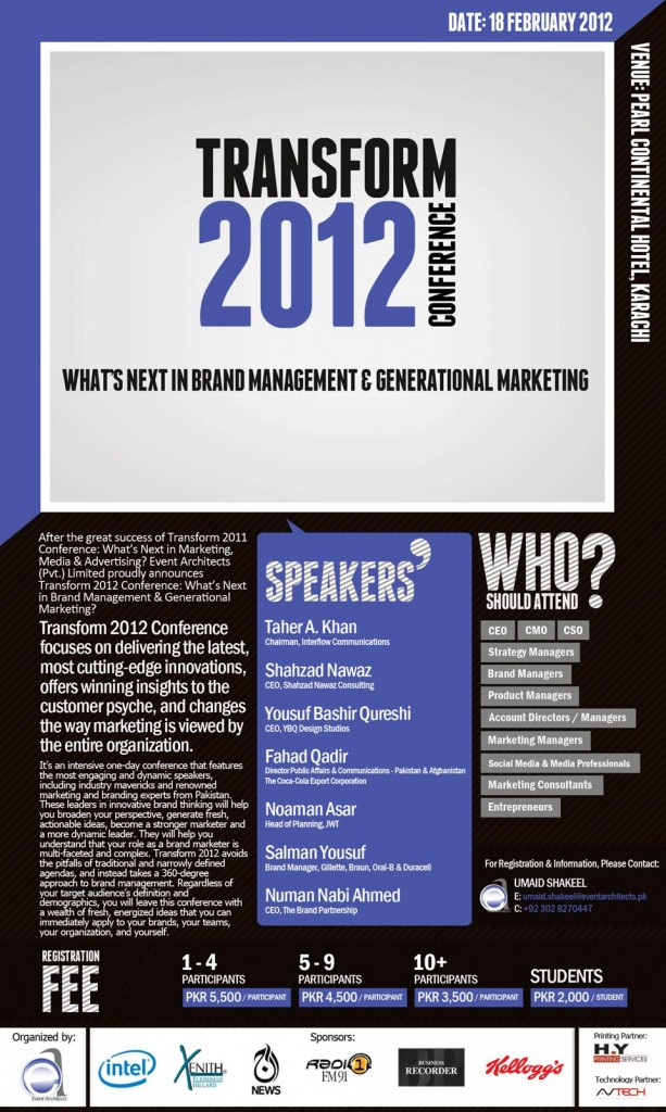 Transform marketing conference